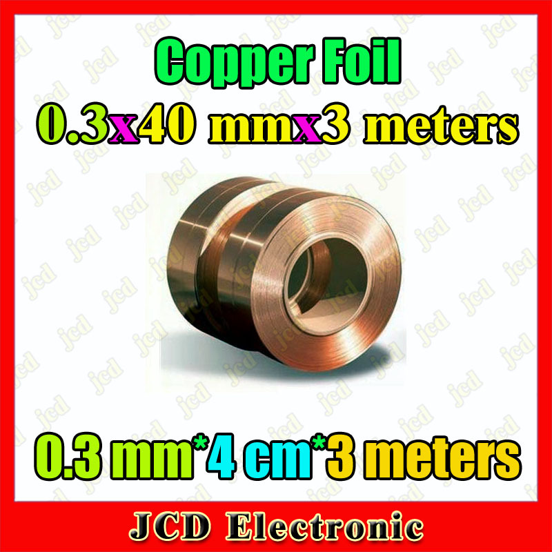 0 3mm 40mm 3meters Copper strip 0 3mm thickness copper foil 40mm wide Copper belt 3meters length Copper Tape 0 3mm 4cm 3 meters in Computer Cables Connectors from Computer Office