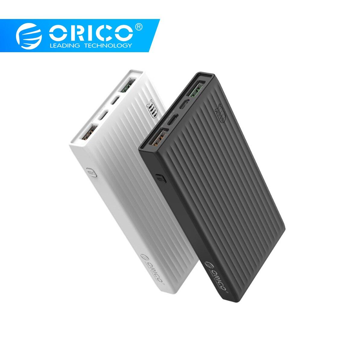 ORICO 20000 mAh batterie portative universelle QC3.0 Charge rapide double voie Powerbank téléphone externe batterie de secours Charge pour iPhone Huawei