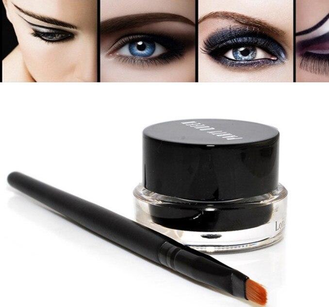 BRAND eyeliner Black/brown Gel Eyeliner Makeup gel eye liner Waterproof Long-lasting Cosmetics Tools gel+ Brush wholesale