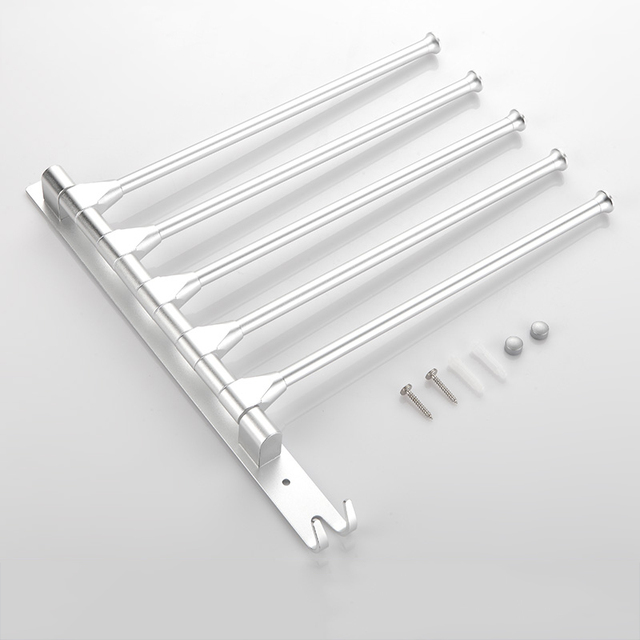 Aluminum Towel Hanger Brand Towel Rack Wall Mount Swivel Towel