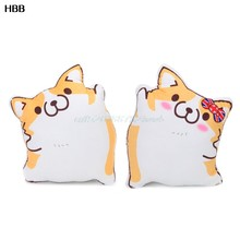 Cartoon Figure Corgi Plush Pillows Stuffed Animal Cushion Valentine's Day Gift(China)