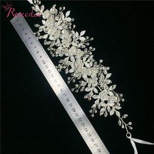 Image 5 - 愛きょう女性の結婚式のクリスタルヘッドバンドヘッドピースのヘアアクセサリージュエリー花嫁の花のラインストーンティアラ RE3247