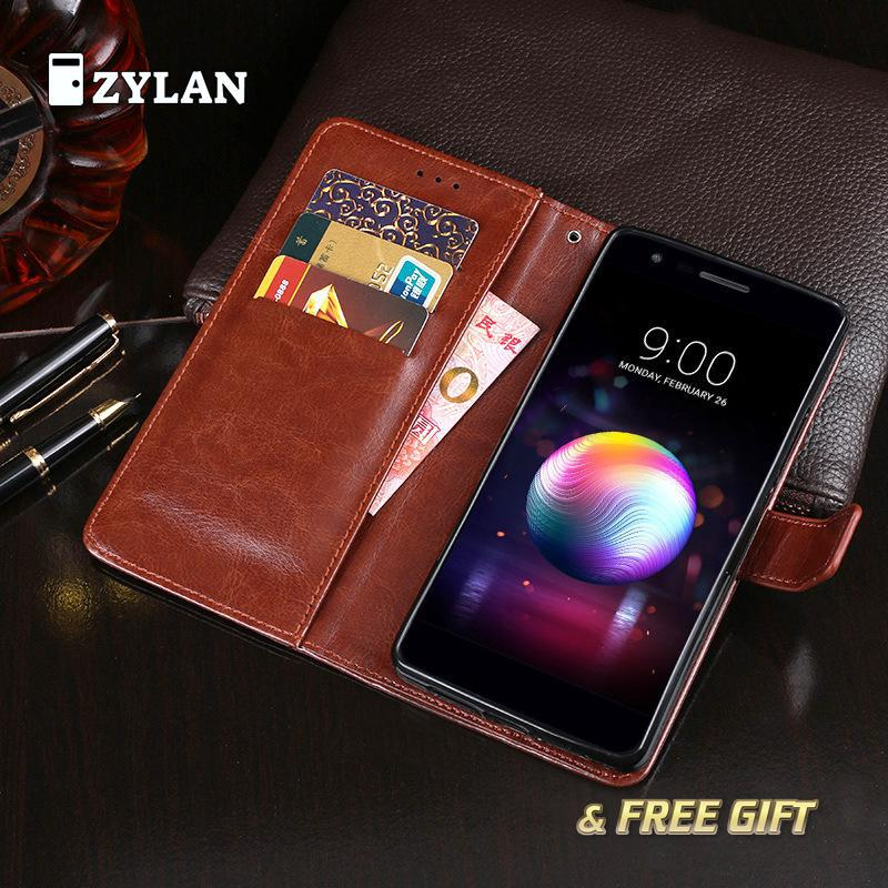 ZYLAN Wallet Leather Case For <font><b>LG</b></font> <font><b>K11</b></font> K 11 Cover Luxury Retro Flip Coque For <font><b>LG</b></font> <font><b>K11</b></font> <font><b>Phone</b></font> Bag Stand With Card Holders & FREE GIFT image