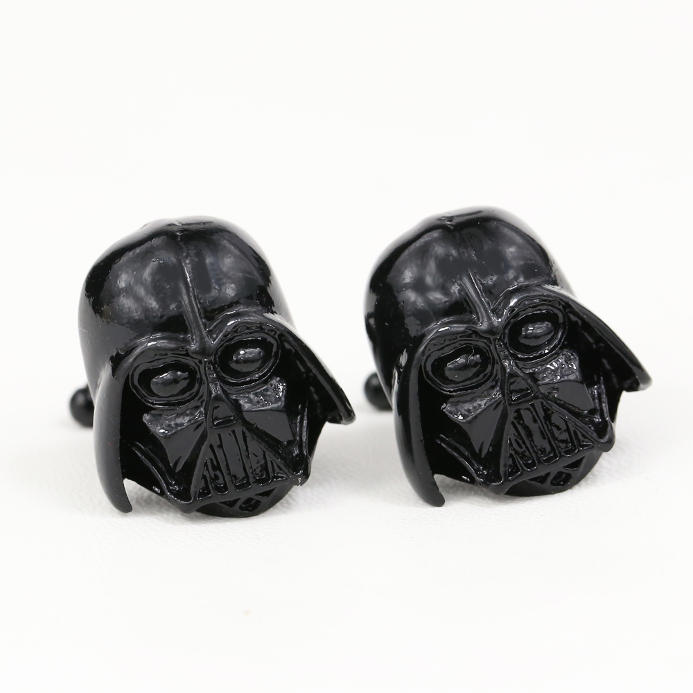 M JEWEL Star Wars Darth Vader 2 Colors Metal Cufflinks Designer Generous Man Cuff link Accessories for Shirt Nice Gift
