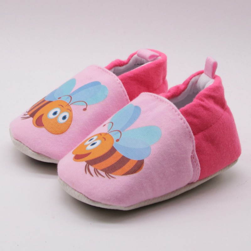 Lovely Baby Cotton First Walkers Newborn Shoes Anti Slip baby Shoes Cartoon Prewalker Soft Bottom Bebe Infant Shoes