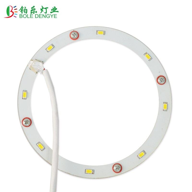 Panneau rond de plafond de la lumière 4W 5W 12W ca 220-240V SMD5730 LED de cercle de panneau d'anneau de LED de plafond le Bord circulaire de lampe avec le conducteur de LED