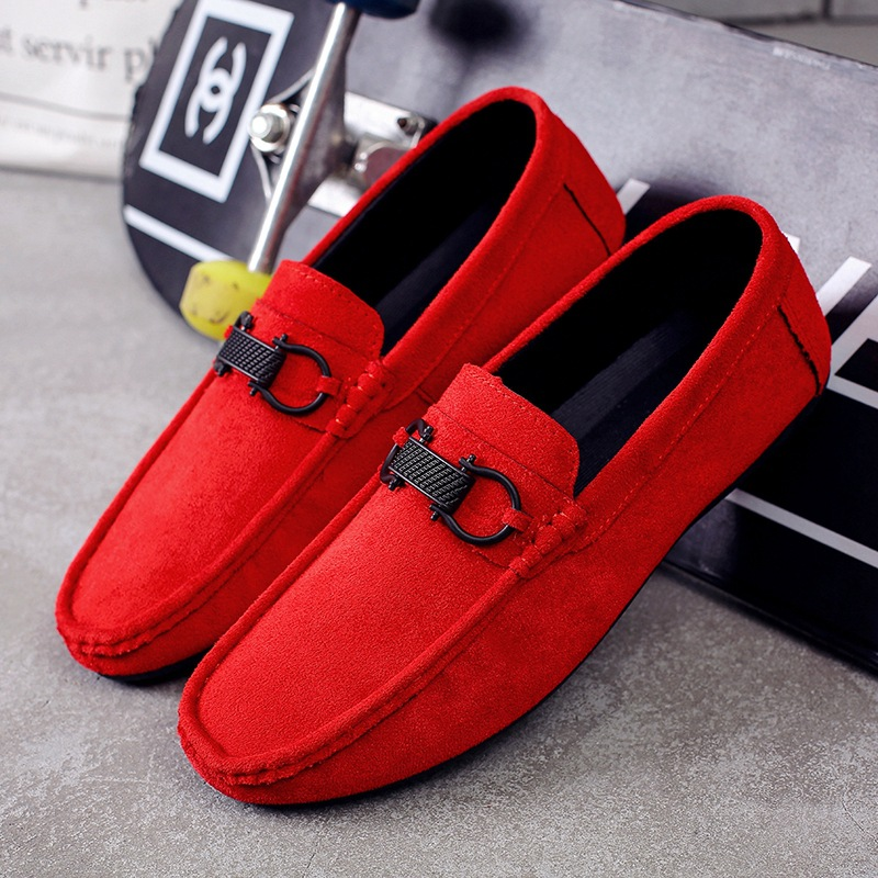 2018 Summer Men Fashion Flat Shoes Slip On Men Casual Shoes Comfortable Suede Leather Men Lightweight Breathable Lazy Loafers 2017 new men loafers summer fashion men casual leather d shoes comfortable men flats non slip breathable shoes