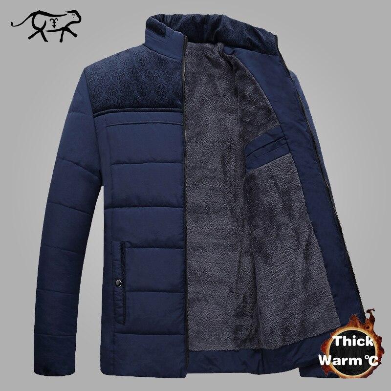 Nouveau Chaud Épais Veste D'hiver Hommes Vêtements 2018 Décontracté Col Debout De Haute Qualité Mode Hiver Manteau Hommes Parka Manteaux 4XL