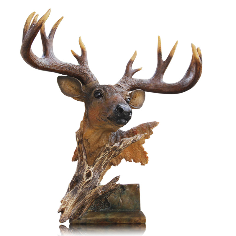 Artificial Deer Head Home Furnishing decoration arts and crafts creative European wine porch American deer head ornaments