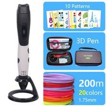 Модная 3D Ручка 3D принтер ручка и PLA/ABS безопасный пластик можно использовать на открытом воздухе USB питание Бесплатная доставка сумка Рождественский подарок