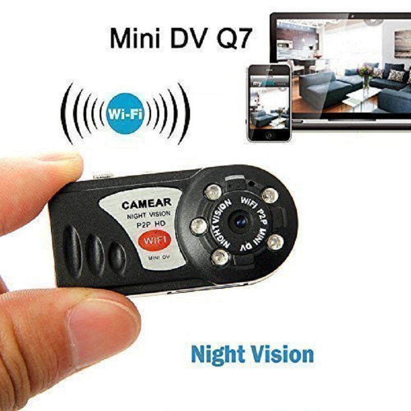 WiFi Camera Mini Q7 Camera DV DVR Wireless Nanny IP Brand New Mini Video Espia Camcorder Recorder Infrared Night Vision