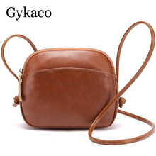 2019 High Quality Women Shoulder Bags Small Messenger Bag Vintage Brown Leather Shell Bag Famous Brand Crossbody Bag for Girls