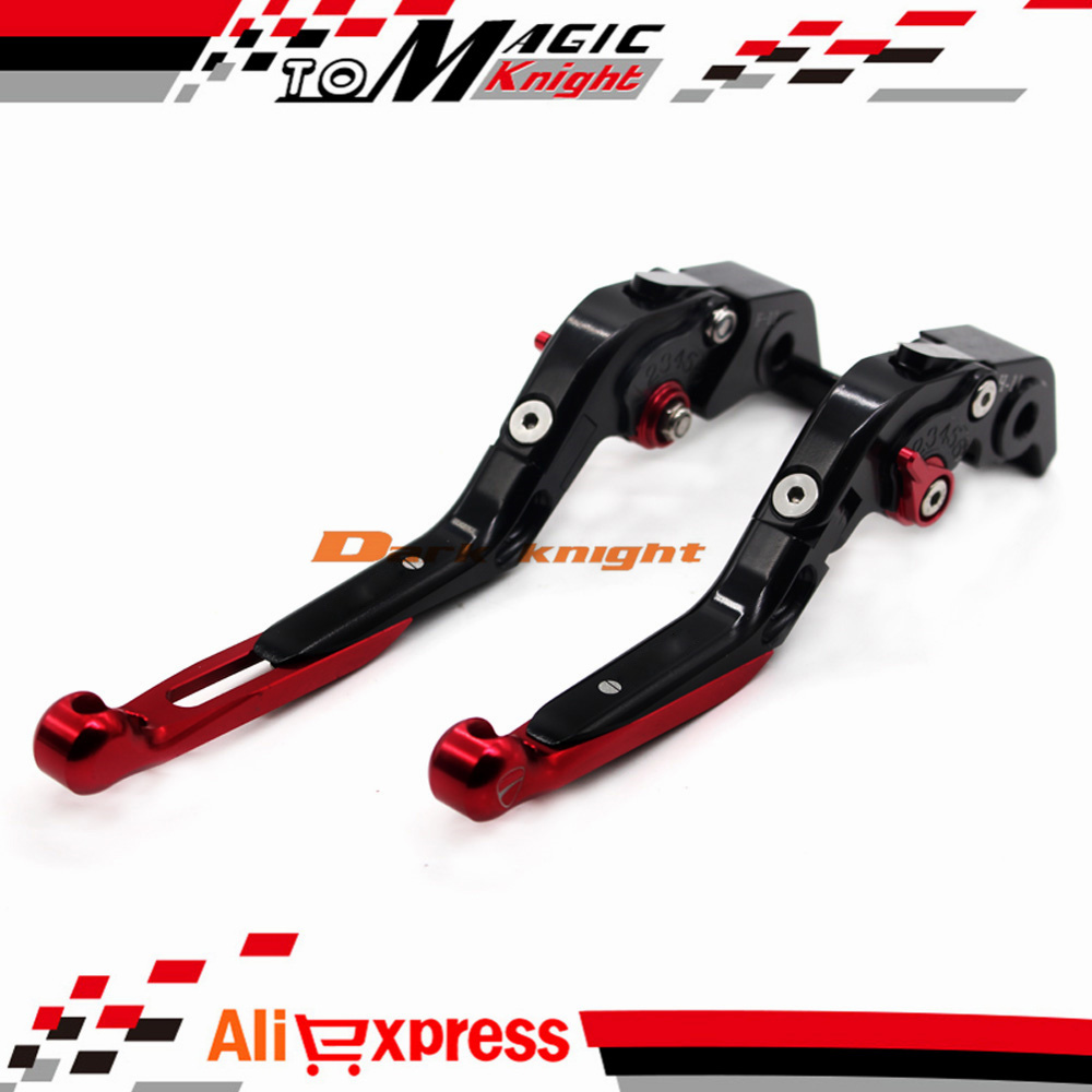 ФОТО For DUCATI 1098/S/R 2007-2009, 899 Panigale 2014-2015 Motorcycle CNC Aluminum Folding Extendable Brake Clutch Levers Black+Red