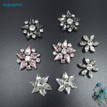 Gypsophila 10PCS/LOT Beaded Applique Applications for Clothes Beaded Applique Sew On Bead Rhinstone Patch For Shoes Bag Clothes