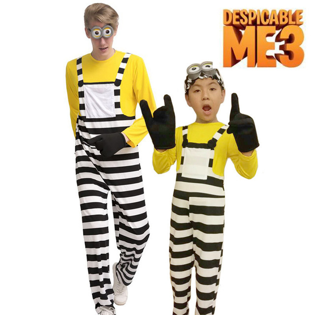 Despicable Me 3 Minion Jail Tom Costume Adult Kids Minions Cosplay Prison Uniform Gloves Goggles Outfit  sc 1 st  AliExpress.com & Despicable Me 3 Minion Jail Tom Costume Adult Kids Minions Cosplay ...
