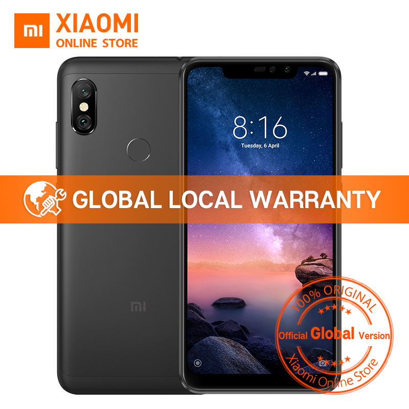 Global Version Xiaomi Redmi Note 6 Pro 4GB 64GB Snapdragon 636 Octa Core 6.26″ Notch Full Screen 4000mAh Fingerprint Smartphone