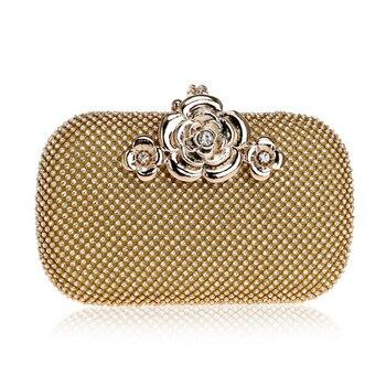2018 XIYUAN New Arrival Luxury Handbags Mini Women Evening Clutch Bags Best Flower Diamond Gold Black  Female Bag - discount item  66% OFF Women's Handbags