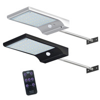 Ousam LED Solar Light 48led PIR Motion Sensor With Remote Control Powered Street Lamps Garden Outdoor
