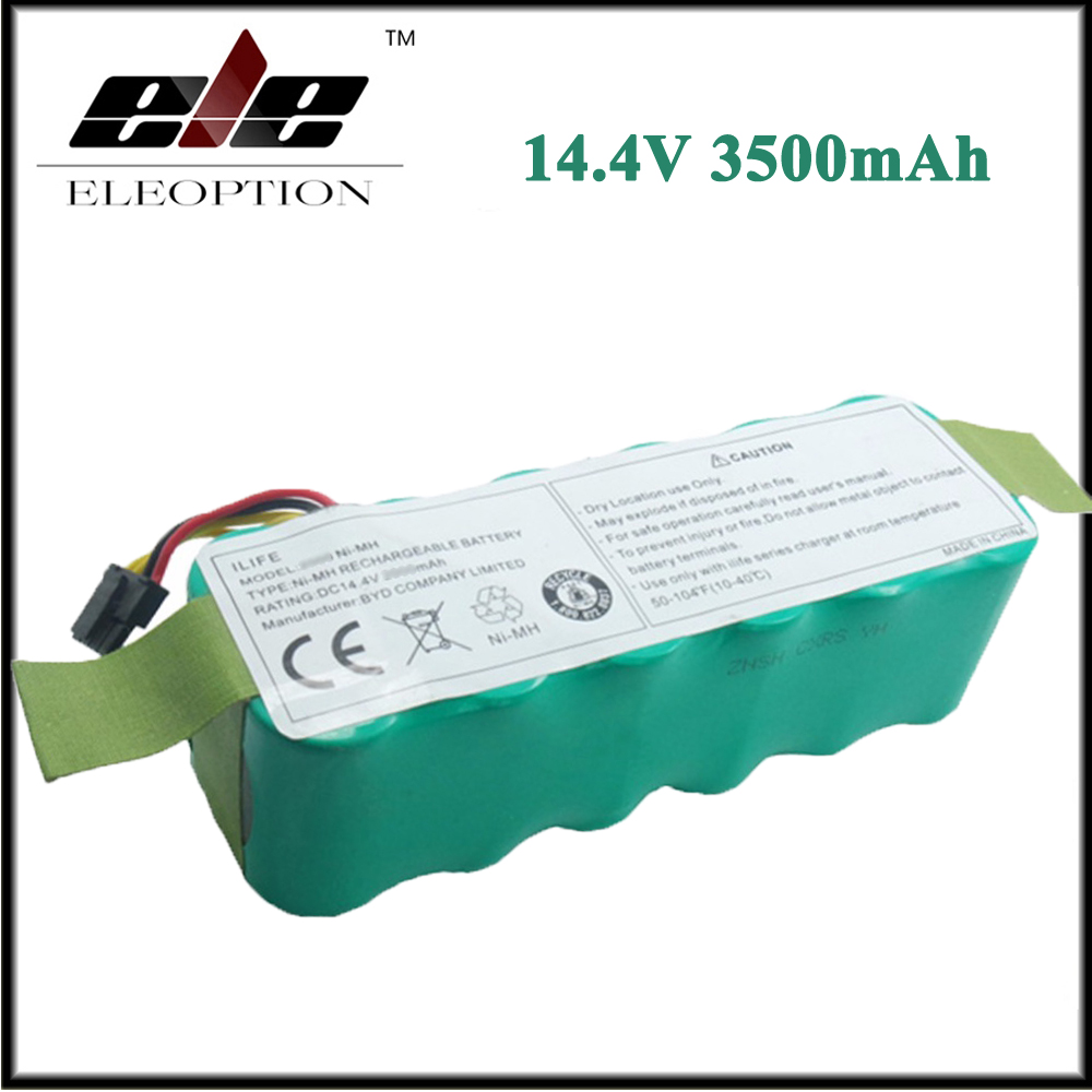 Eleoption 14 4V 3500mAh Ni MH Battery For Panda X500 X600 For Ecovacs Mirror CR120 For