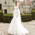 Real Photo White Mermaid Wedding Dress Top Sale Simple Vintage Bridal Gowns 2016 Summer Style Dresses Vestido De Novia WD1214