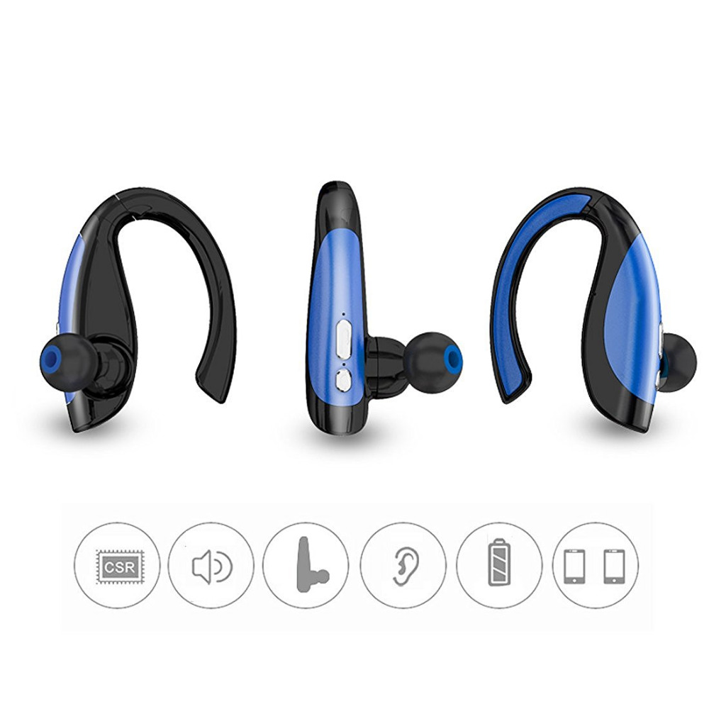 KOYOT Newest Bluetooth Headphones Stereo Sport Sweatproof Headsets Noise Cancelling Music Earphones Hands-free Mic for iphone 8