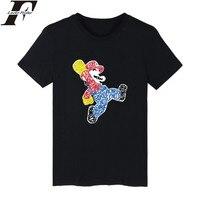 Hot Sale Super MarioRun Cartoon Mens TShirts Summer Short Sleeve T Shirts And Super Mario Funny