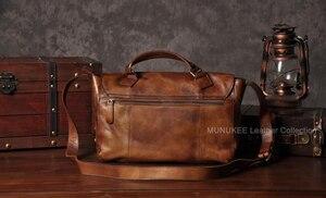 Image 3 - Vintage skórzana torba męska skórzana torba na ramię męska torba Crossbody męska Sling torba rekreacyjna torebka na ramię brązowy szary