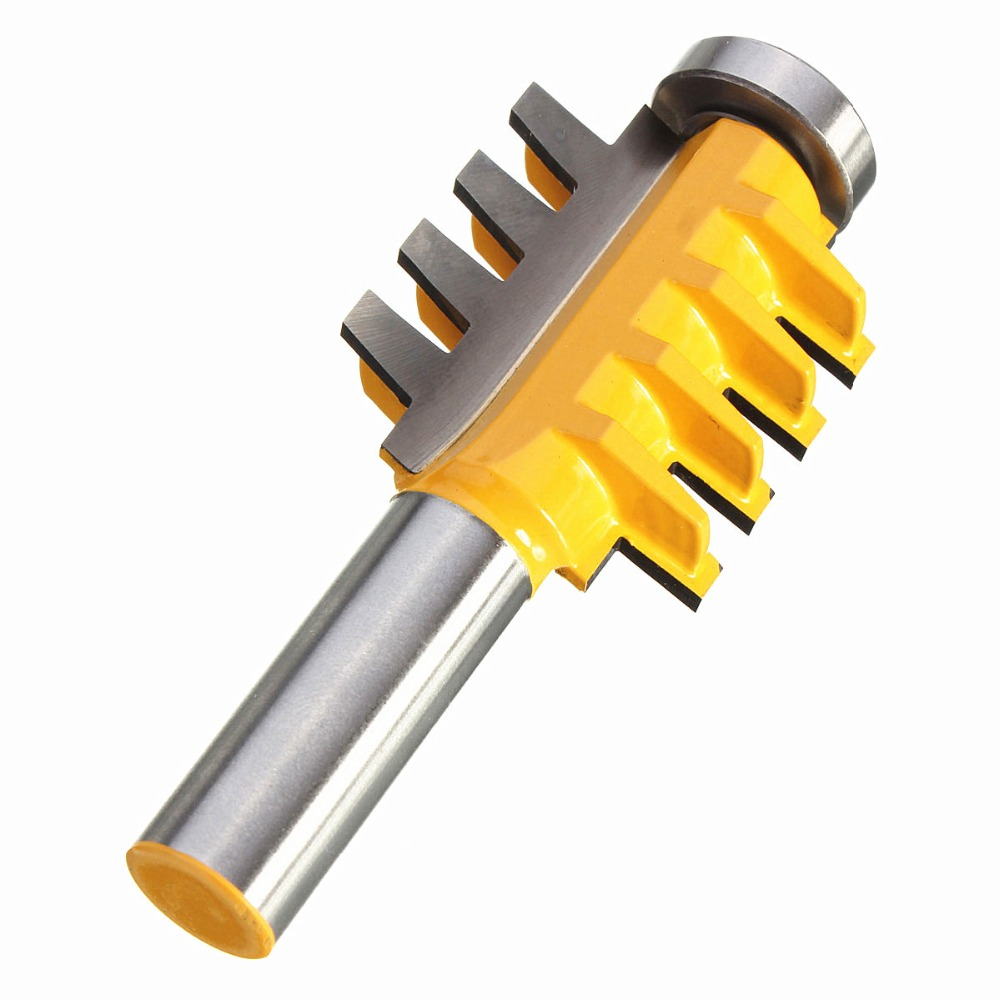 Reversible Finger Joint Glue Joint Router Bit 1/2-Inch Shank Chisel Cutter Router Bit Set Door Woodworking Carpentry Kit large elaborate chair rail molding router bit 1 2 inch shank ogee chisel cutter router bit set door woodworking carpentry kit