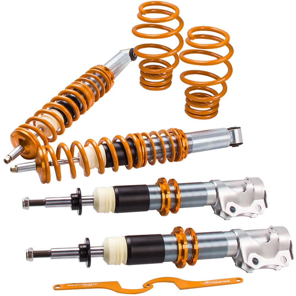 Full Shock kit For VW Polo Mk3 6N2 1999 2000 2001 2002 2003 LOWERING Coilovers car 3 5mm audio cable mini cooper one s jcw r55 r56 r57 r58 r59 r60 r61 f56 f55 clubman countryman 80cm car aux cable