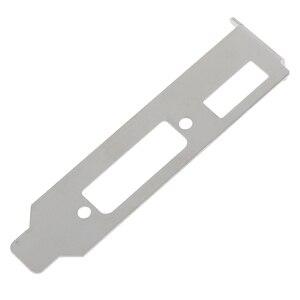 Image 5 - 2 pièces/ensemble adaptateur de support à profil bas Port HDMI DVI pour ensemble de cartes vidéo graphiques demi hauteur