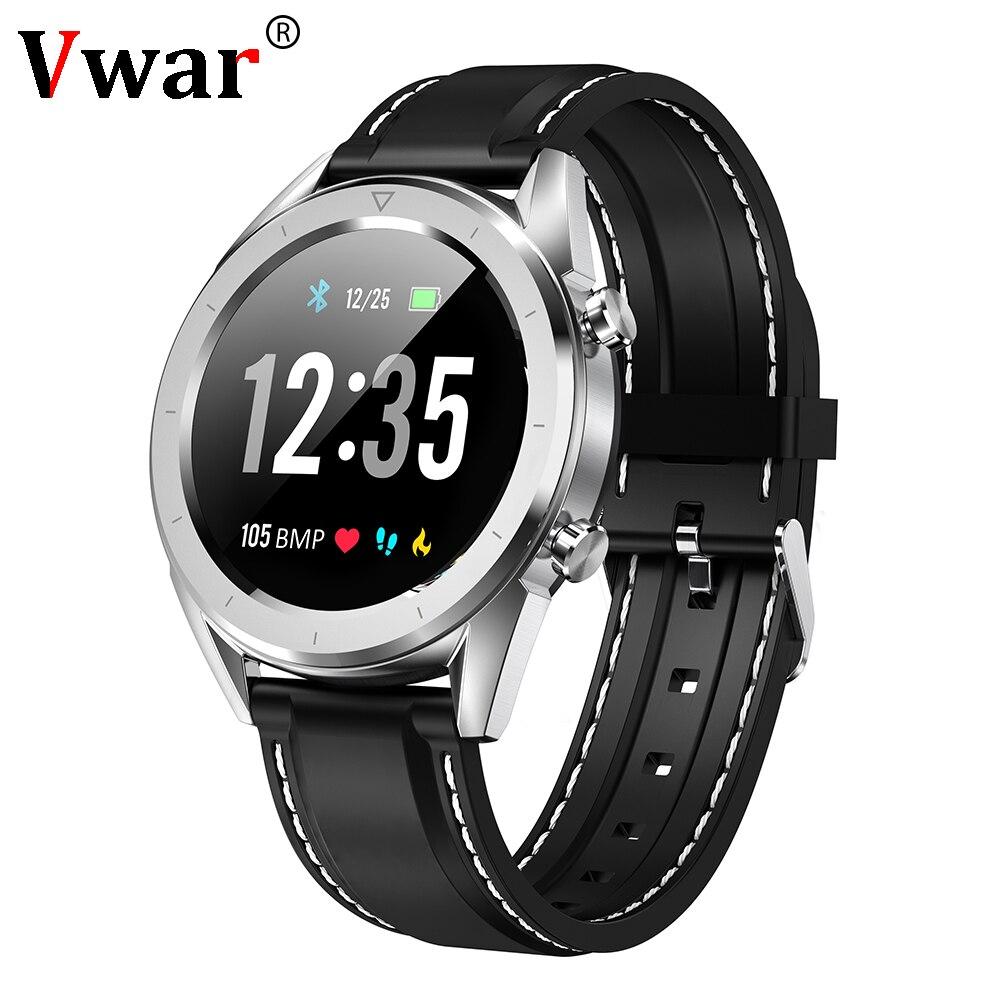 Vwar T28 ECG + PPG montre intelligente étanche Sport Smartwatch tension artérielle moniteur de fréquence cardiaque multi-sport Mode Fitness Bracelet B65