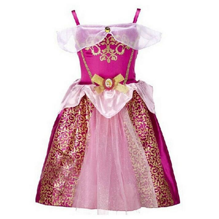 Snow white Girls Dress Age 2-10 Years Princess Cinderella Girls Dresses Rapunzel Aurora Children Cosplay Costume Kids Clothing qiu dong children dress long sleeved cinderella princess dress love sally dresses of the girls