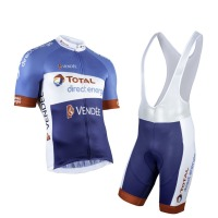 2019 new pro team total direct energie cycling jersey kits summer mens breathable MTB quick dry bike Ropa ciclismo gel pad
