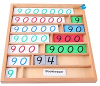 New Wooden Box Baby Toy Montessori Wood Bank Game Math Early Childhood Education Preschool Training Kids Baby Gifts