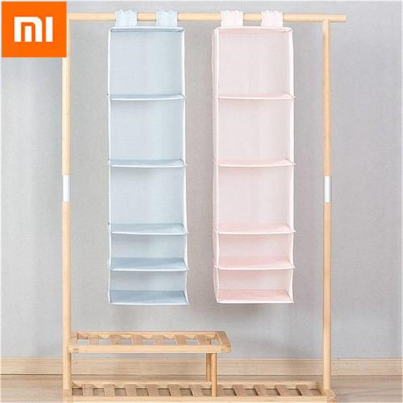 Original Xiaomi Mi Home 5 Layers Hanging Closet Organizer Household Hanging  Foldable Storage Bag Clothing Wardrobe Storage