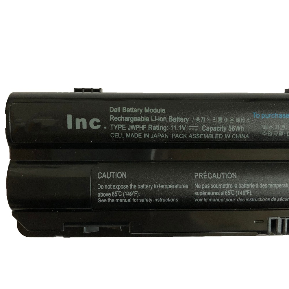 11 1V 56Wh 5200mah JWPHF new original J70W7 R795X WHXY Laptop Battery For Dell XPS 14 15 17 L401X L402X L501X L502X L701X L702 in Laptop Batteries from Computer Office