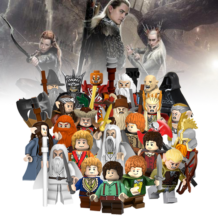 The Lord Of The Rings Elf Prince Aragorn Mayoral Model Plastic Bricks Building Blocks Figures Legoed Toys Hobbit Christmas Gifts(China)