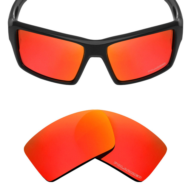 919d717456f63 Mryok + polarizadas resistir mar reemplazo Objetivos para Oakley eyepatch 2  Gafas de sol Fire red