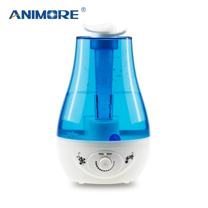 ANIMORE Aroma Ultrasonic Humidifier Essent Oil Diffuse 25W110-240V LED Light Humidifier Essential Oil Diffuser Air humidifier(China)