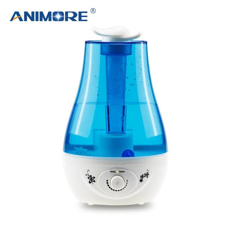 ANIMORE 3L Arôme À Ultrasons Humidificateur Essent Diffuse L'huile 25W110-240V LED Lumière Humidificateur Huile Essentielle Diffuseur humidificateur D'air