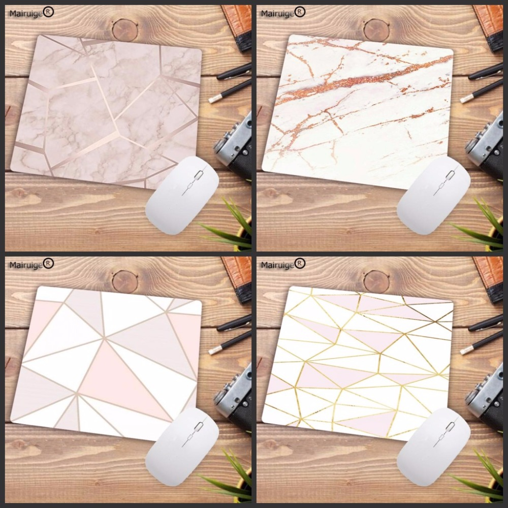 Mairuige Promotion Russia White Pink Marble Design Office Mice Gamer Soft Mouse Pad Small Size For 180*220*2mm Gaming Mousepads