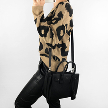 Women Hot Leopard Warm Sweaters Autumn Winter O-Neck Pullover Casual Trendy Loose Sweater