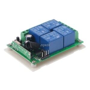 Image 3 - 433 МГц 12 В постоянного тока 4 канальный беспроводной Радиочастотный 4 релейный пульт дистанционного управления переключатель приемник