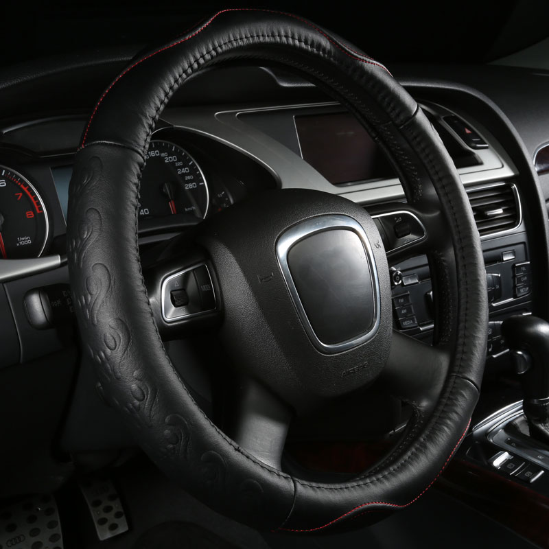 car steering wheels cover genuine leather accessories for Mini Cooper S,Hummer H2 H3