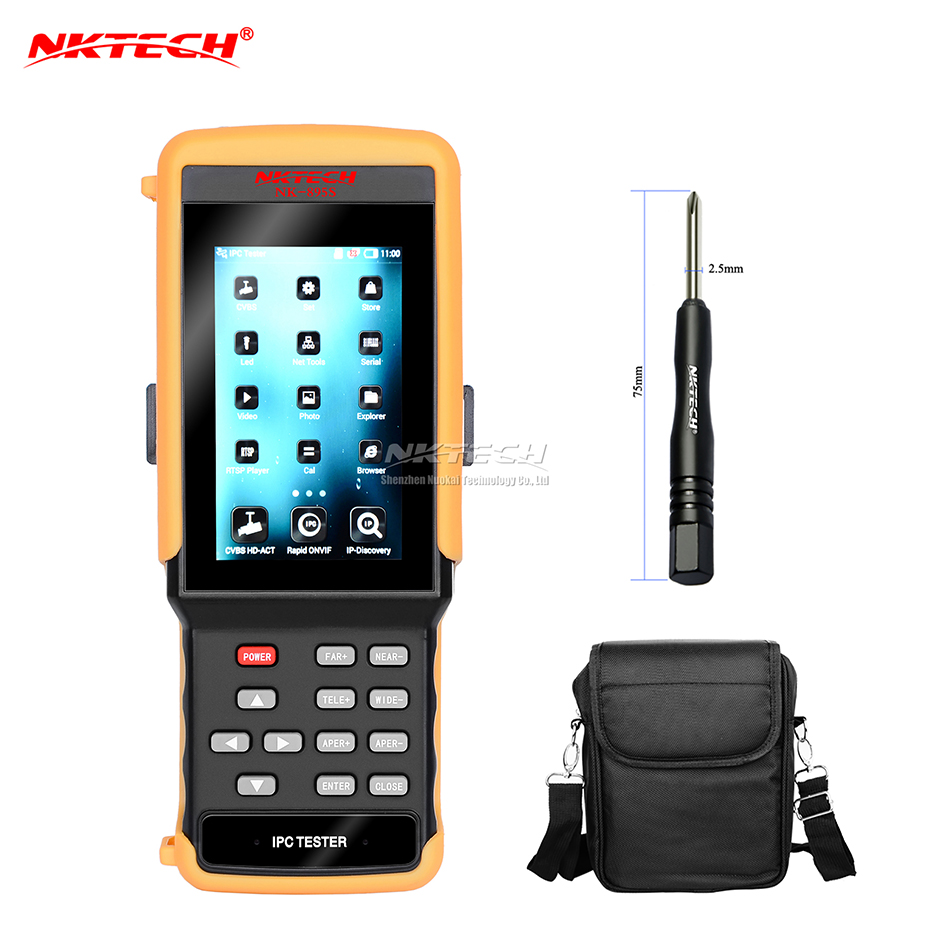 NKTECH IP Camera CCTV Tester NK-895S 2-IN-1 1080P HD Video Security Monitor Analog Netwo ...