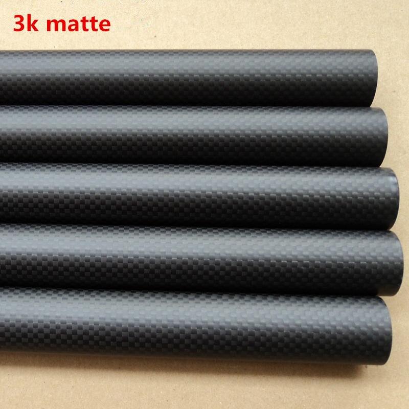 1pcs Carbon Tube  Black 50*52mm 3K Glossy 500MM Long100%  Carbon Fiber plain twill  matte carbon tubes cabasse pacific 3 glossy black