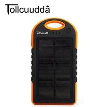 Tollcuudda 12000 мАч внешний Мощность Bank Солнечное Панель Батарея Celular Зарядное устройство для Iphone