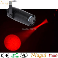 Red Potable 3W Spotlight Stage Light LED Pinspot DJ Lighting Beam Lights LED Lamp