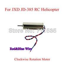 No sentido horário Motor com fio vermelho e azul para JXD JD-385 JD 385 JD388 WLtoys V252 4CH 2.4 G UFO Xcopter helicóptero