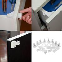 4Sets Invisible Cabinet Locks With Magnetic Key Free Drill Multifunctional Baby Safe Drawer Cabinet Cupboard Safety